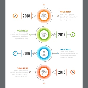 Vertical timeline infographics with 04 steps
