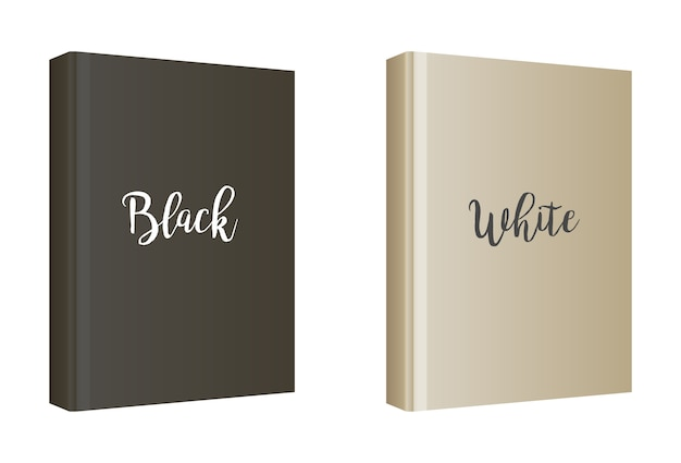 Vertical white book cover template