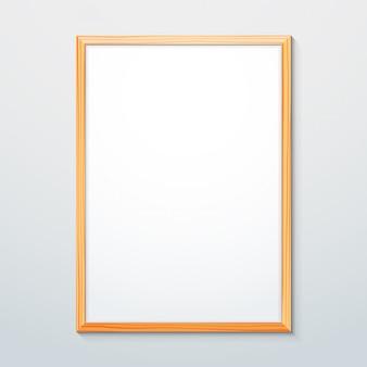 Vertical wood texture frame mockup