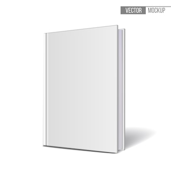 Vertically standing template books on a white background.  illustration.