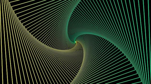 현기증 기하학적 환상과 회전하는 줄무늬