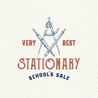 Very best school stationary abstract vector sign, symbol or logo template.