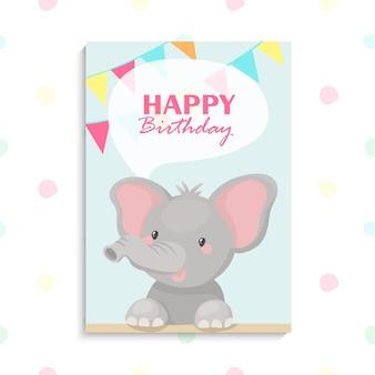 Compleanno di elefantino molto carino