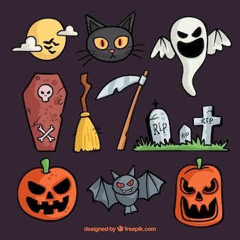 Very cute collection of halloween elements