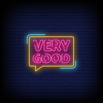 Very good neon signs style text
