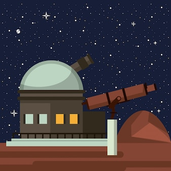 Very large telescope pointing to the space
