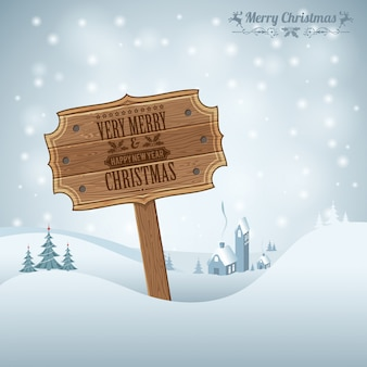 Very merry christmas and happy new year greeting card