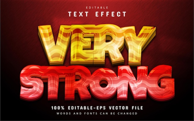 Very strong text effect editable