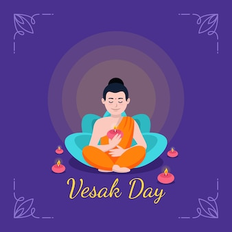 Vesak concept in flat design