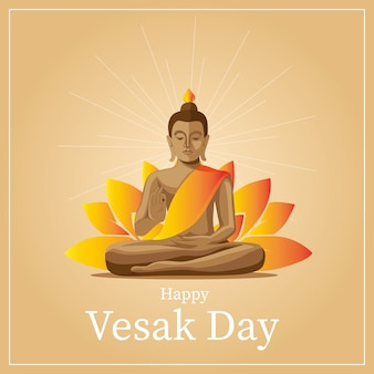 Vesak greetings card