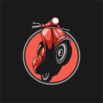 Vespa mascot design vector