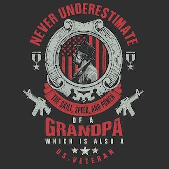 ベテランデーの祖父は兵士でした