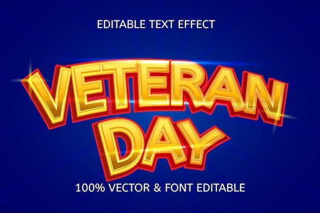 Veteran day style modern editable text effect