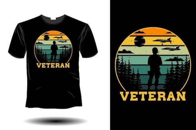 Ветеранский макет ретро винтаж дизайн