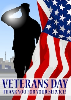 Veteran's day holiday banner.