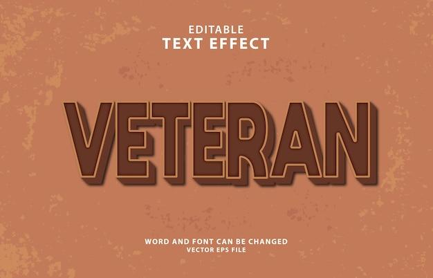 Veteran text effect