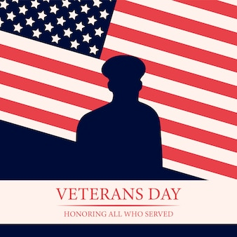 Veterans day background of national american event.