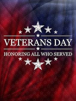 Фон день ветеранов. национальный праздник сша. векторная иллюстрация.