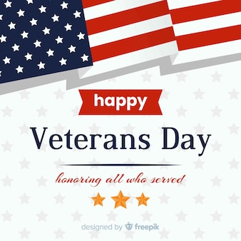 Veterans day background with us flag elements