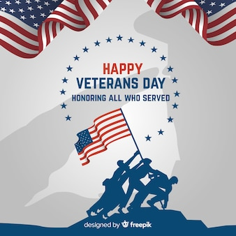 Veterans day background with us flag