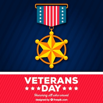 Veterans day badge background