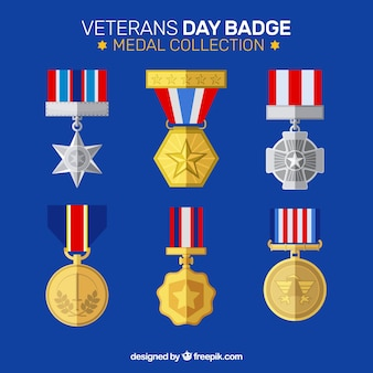 Veterans day badge collection