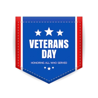 Veterans day badge