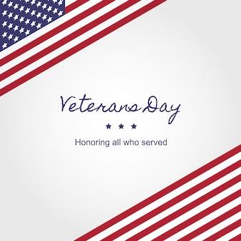 Шаблон оформления баннера день ветеранов национальный праздник сша