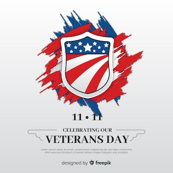 Veterans day brushstrokes background