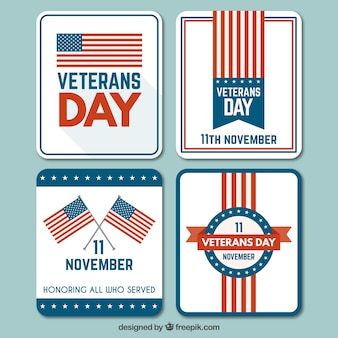 Veterans day cards collection