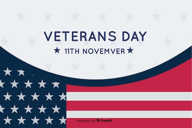 Veterans day concept in flat design