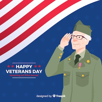 День ветеранов концепции в плоском дизайне