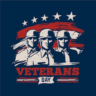 Veterans day concept
