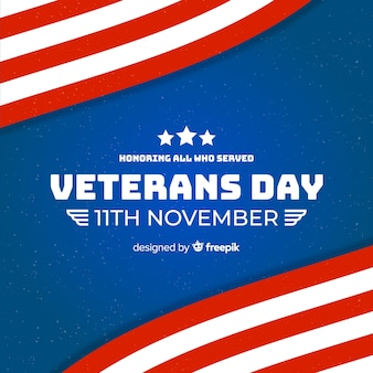 Veterans day flat design wallpaper