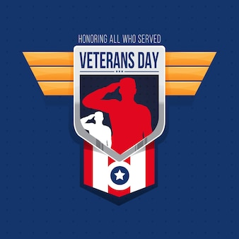 Veterans day in flat design