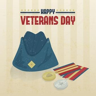 Veterans day in flat design