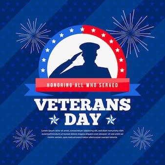 Giornata dei veterani in design piatto