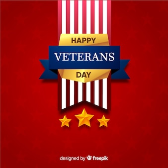 Veterans day golden insignia background