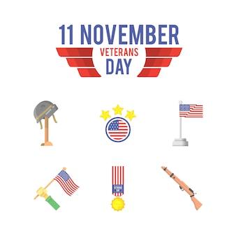 재향 군인의 날 아이콘 그림
