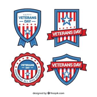 退役軍人の日ラベル