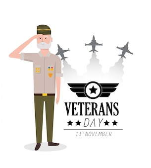 Veterans day to policeman celebration and airplanes