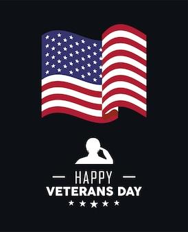 День ветеранов флаг сша