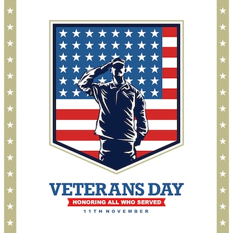 Veterans day with army illustration graphic