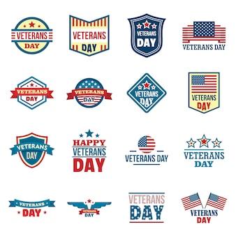 Veterans logo set