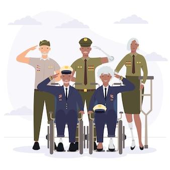 Veterans people with prosthetics