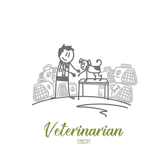 Иллюстрация концепции ветеринара