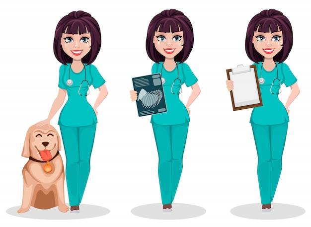 Veterinarian woman