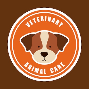 Veterinary animal care logo graphic design