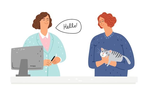 Ветеринарная помощь кошке.