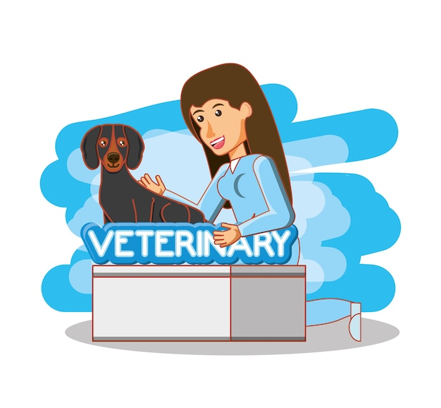 Veterinary in attention office
